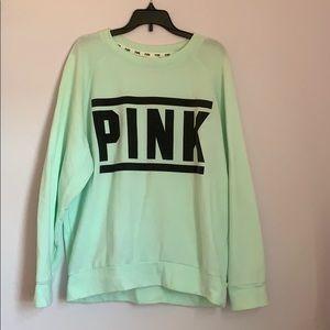 Victoria's Secret PINK Mint Green Sweater